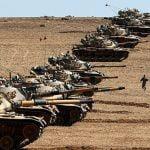 آرایش هجومی تانکهای ترکیه در مرز با کردستان عراق